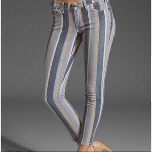 Current/Elliot Vertical Stripe Skinny Jeans